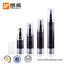 small capacity personal care medical plastic packaging containers airless cosmetic pump bottle
