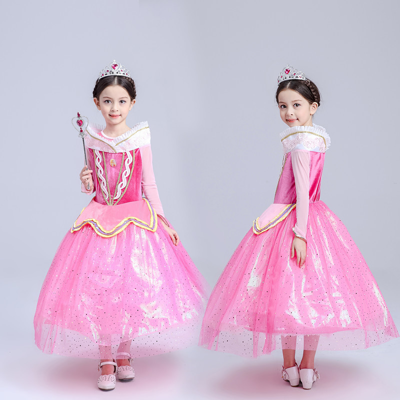 2016 new Chiristmas clothing Children clothing Christmas dress princess dress girls fall children' s wedding dress C86