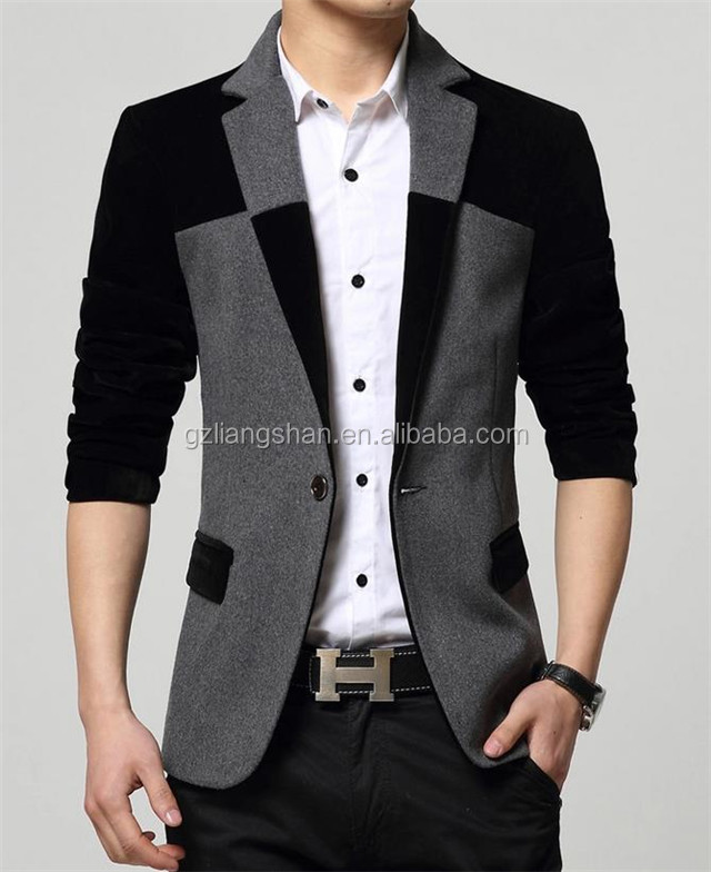 New Fashion Mens Slim Fitted Blazer Stylish Casual one Button Suit Coat Jacket Blazer