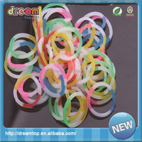 DIY rainbow colorful silicone loom band glow in the dark rubber band bracelets