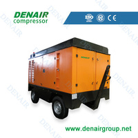 mining 13bar industrial screw portable air compressor for sale