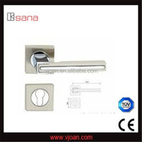 Square rose zinc alloy door lever handles