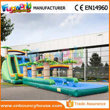 Double line inflatable climb and slide slip inflatable pool slide