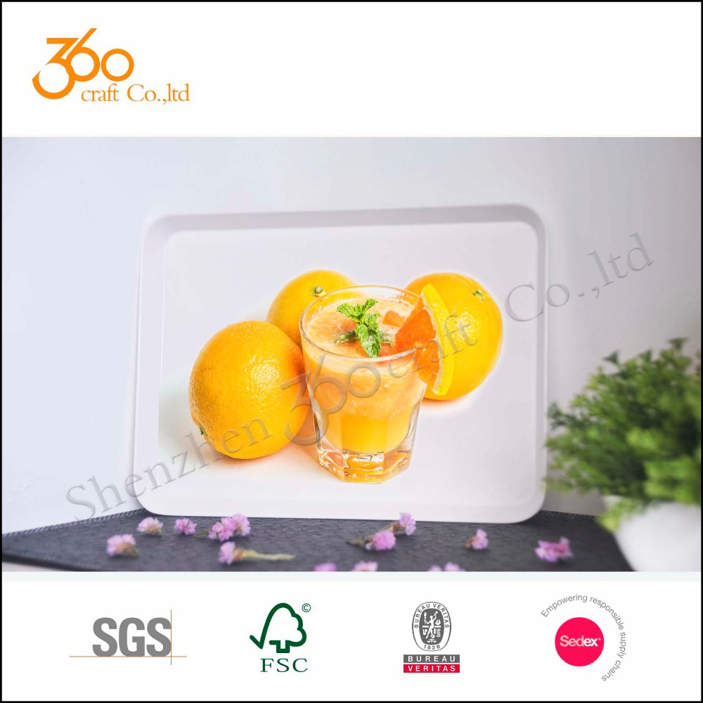 plastic rectangle food tray