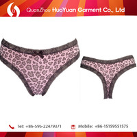Leopard Panties 2015 New Design Sexy Lace Cheeky Girls Panties Women Briefs Ladies Underwear Lingerie