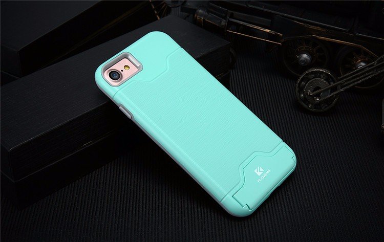 Amazon Hot Sale FLOVEME Phone Case For 7 7 Plus Kickstand Phone Case 2 in 1 Plastic Tpu Cover For IPhone 7 6 Plus Pouch Cover