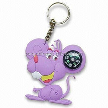Rata mouse animal lindo <span class=keywords><strong>2d</strong></span> oem caucho pvc pvc key chain key ring