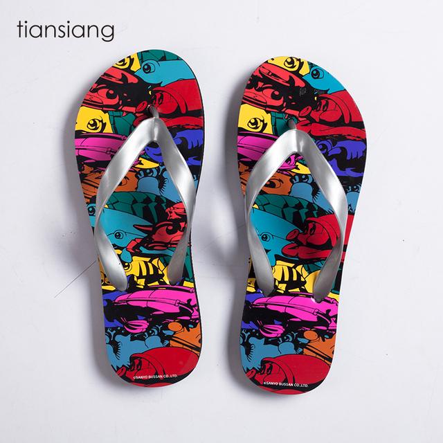 new design Colourful promotional summer beach style slipper flip flops