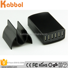 High Speed 60W 12A 6 USB multi port wall charger cargador de celular for smartphone and tablet