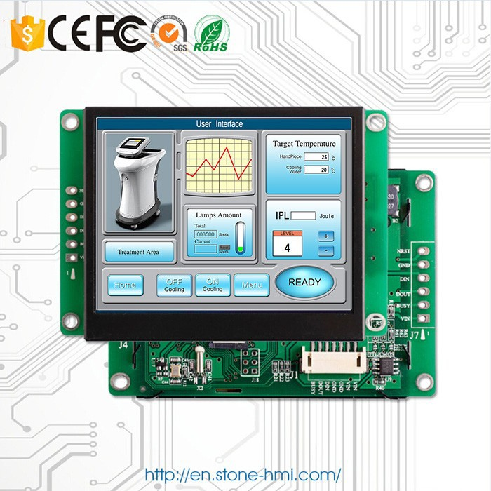 3.5'' intelligent TFT LCD dot matrix display with CPU Processor and simplified command Program
