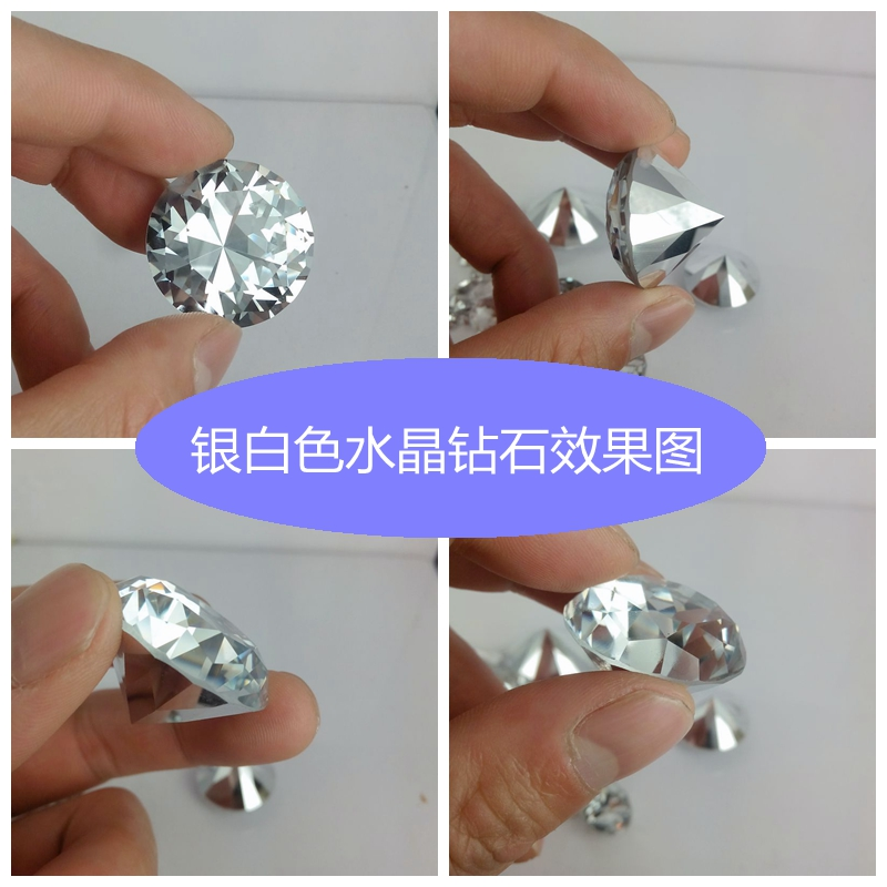 30mm Small Crystal Fake Glass Diamond For Paperweight Craft On Sale