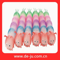 Seven Part TPR Puffer Plastic Earthworm Toy