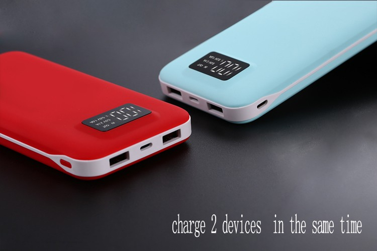 High capacity hot seller universal portable battery charger case 2.1A output 12000mAh power bank for mobile phone