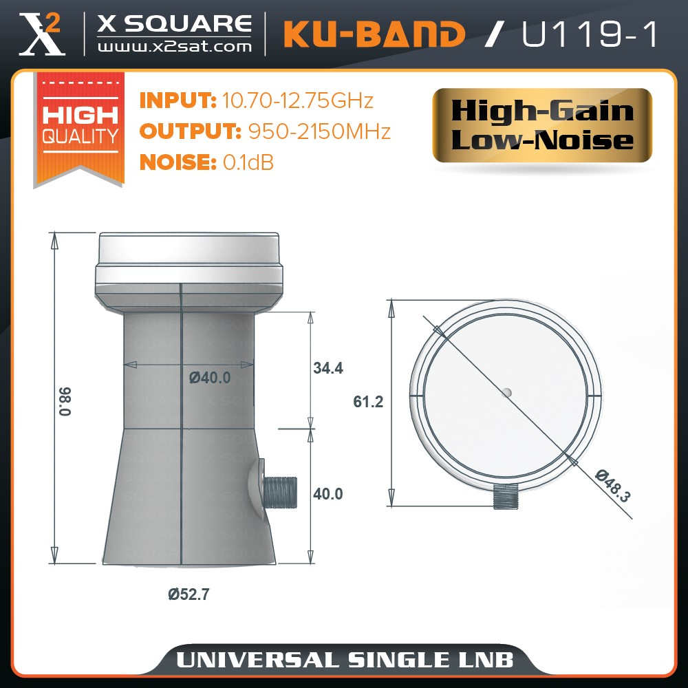 Cheapest Price Universal Single One Output Satellite Signal Dish LNBF LNB