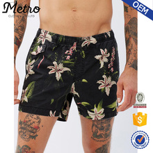 2016 Fashionable Mens Black Floral Printed Shorts