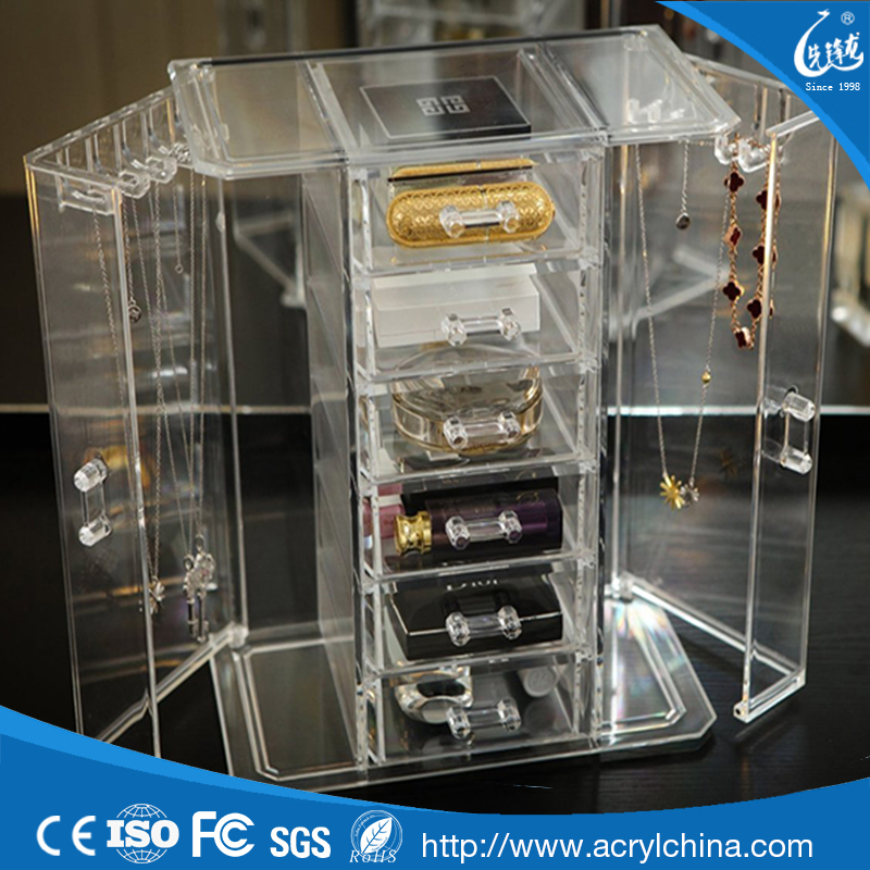 Wholesale new design factory direct sale luxury custom acrylic used jewelry showcases