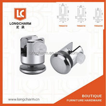 double side glass clamp zinc alloy round wall mount glass clamps supports for shelves from Guangzhou Hardware