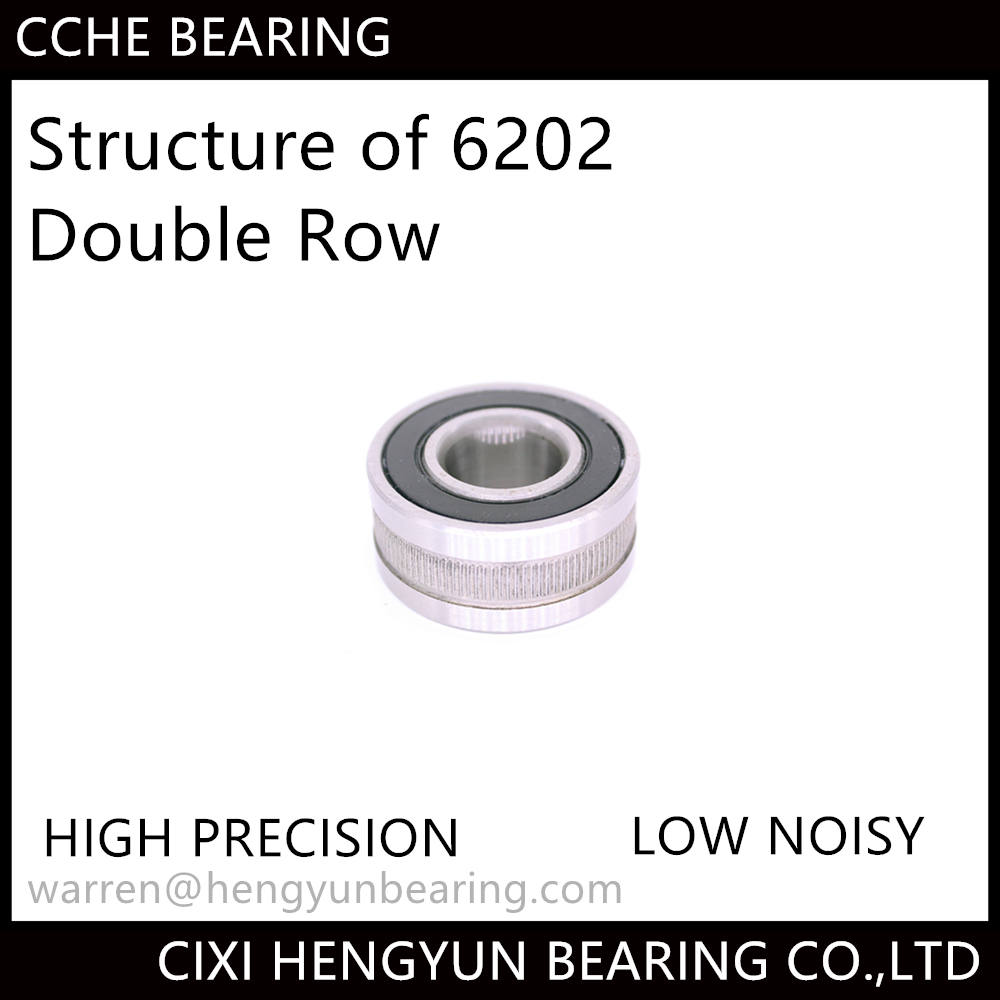Deep Groove Ball Bearing Double Row 6202-2RS Bearing