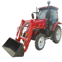QLN four wheel drive agriculture 85 hp cheap farm tractors with agricultural front end loader