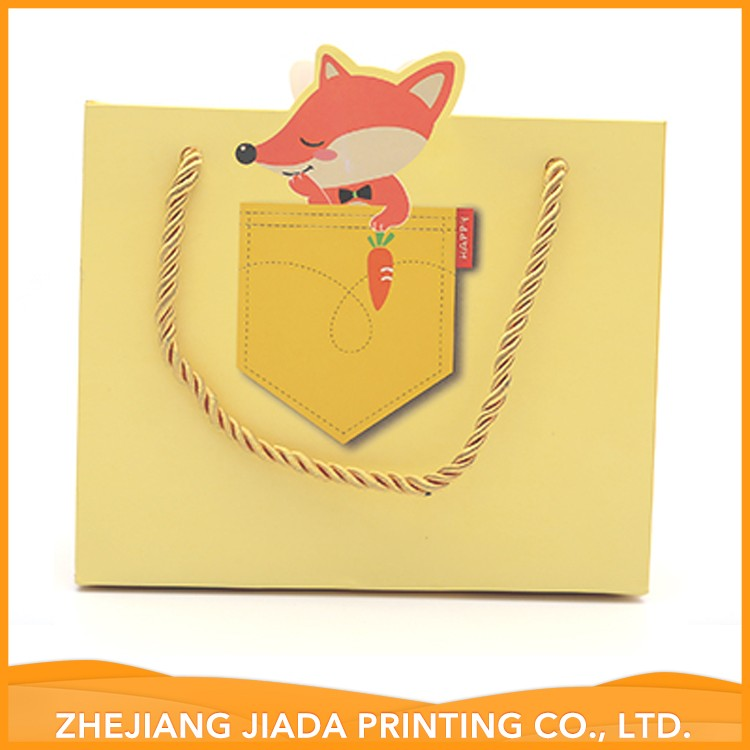Factory Made Cheap Party Cream Gift Paper Bags