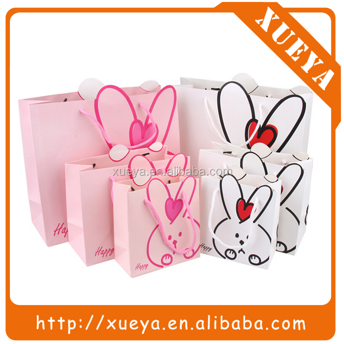 In stock lovely rabbit decorative paper bag/gift packaging bag