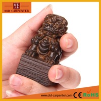 Fashion Lion Seal 3.5*3.5*6.5cm decorative animal wood carving