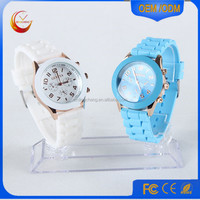 Fashion Watch Women Elegant Lady Quartz Silicone Geneva Watches Jelly Vogue Watch