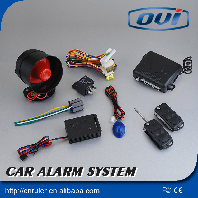 Car Security System DC12V Anti-hijacking Car Alarm System Central Door Lock With Remote Arm/Disarm and Trunk Open Function