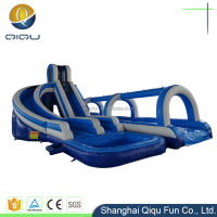 Popular inflatable slide fun city game for kids