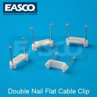 EASCO Double Nail Flat Cable Clip