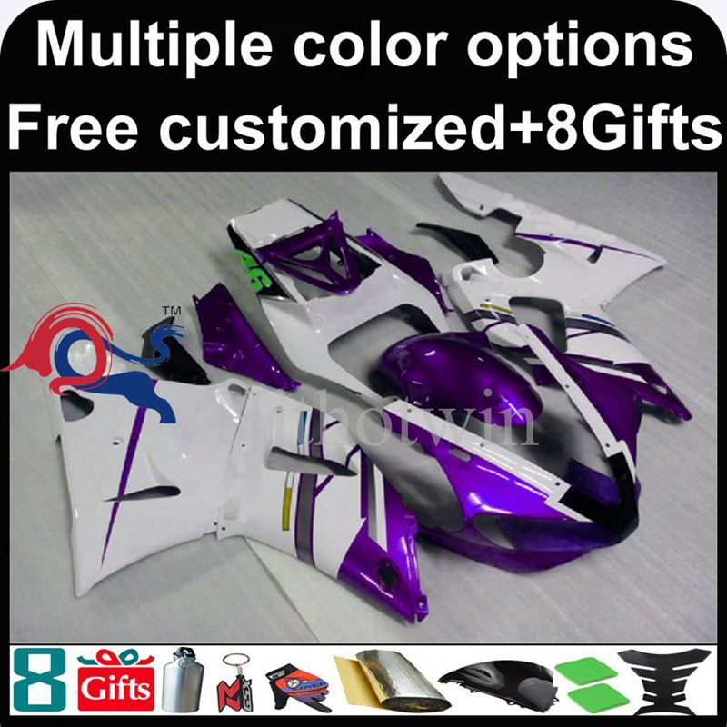 purple white Body motorcycle cowl for Yamaha YZFR1 2000-2001 00 <strong>01</strong> YZF <strong>R1</strong> 2000 2001 00-<strong>01</strong> ABS Plastic <strong>Fairing</strong>