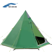 Camping Double Layer 4 Person 3 Season Wholesale Outdoor Pyramid Tipi A Frame Teepee Tent Adults