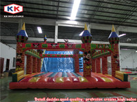 outdoor inflatable toys inflatable bouncer with slide for sales, commercial inflatable customized bouncer with slide for kids