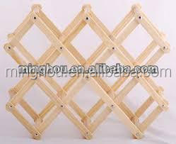 wood wine rack champagne shelf customized for home bar