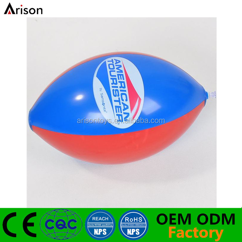 American football shaped colorful inflatable beach ball inflatable water ball