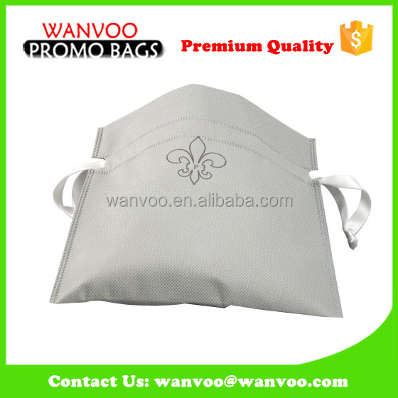 Big Volume Washing Cloth Non-woven Laundry Drawstring Bag