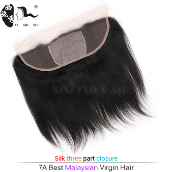 Lace closure for head back, brazilian hair natural wavy silk top lace closure, 3 bundles silk base frontal
