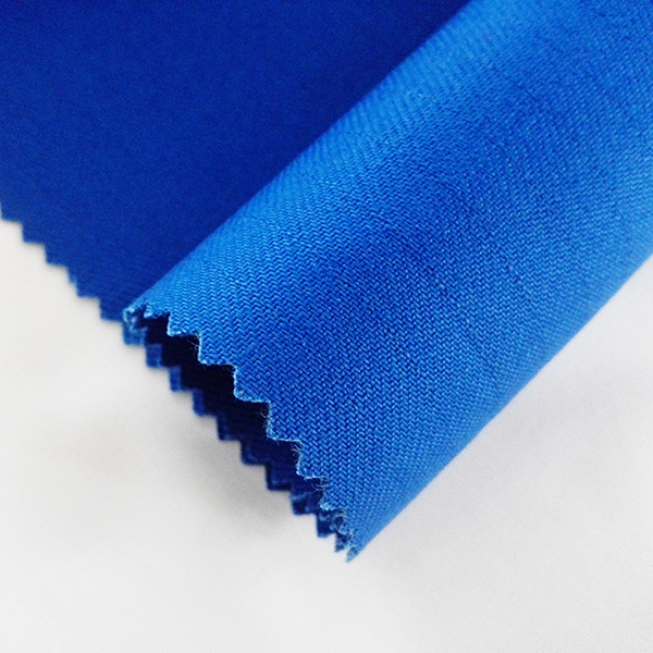 Royal Blue <strong>Cotton</strong> 170GSM flame retardant plain fabric for Workwear lining