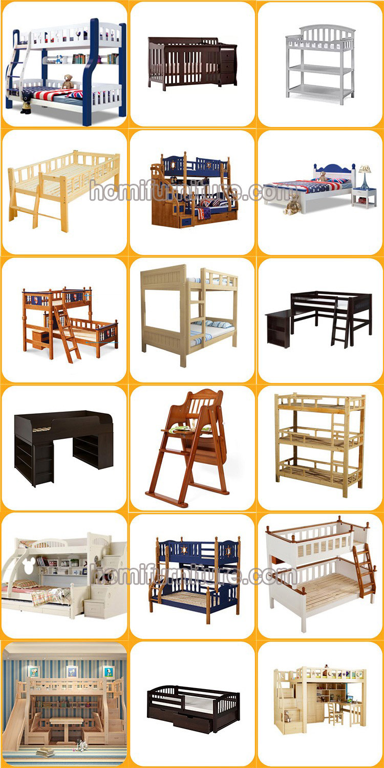 Cheap Dormitory Used Furniture Wooden Bunk Bed For 4 Kids