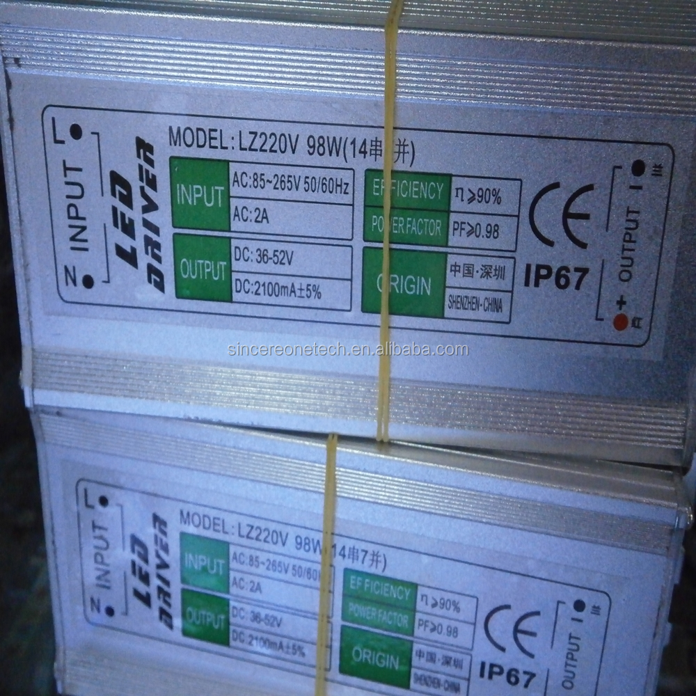Waterproof constant current 2100mA led driver 98W 12-14 series power supply