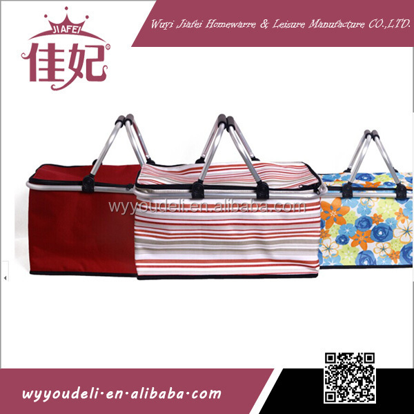 Wholesale reusable outdoor foldable cooler bag,folding cooler bag,folding cooler basket