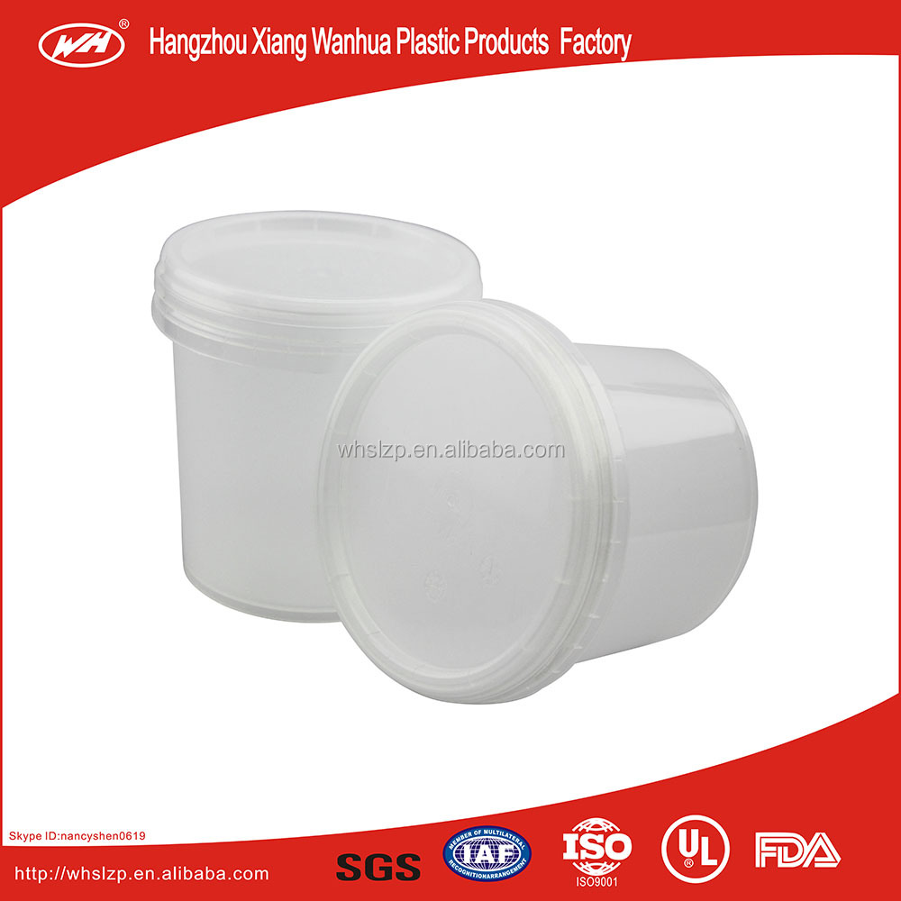 1L small plastic bucket/plastic container for chemical fertilizer