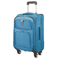 28 inch blue zipper spinner trolley travel polo luggage for sale