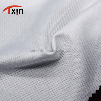 factory direct knitting warp single color fabric for garment, dry fit jersey fabrics for wholesale