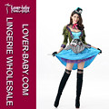 China Wholesale Carnival Party Halloween Sexy Mad Hatter Costume L15499