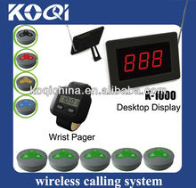 Wireless calling system suits for meseros 1000-300-H3 waiter call button