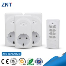 1V3,3600w,433.92Mhz/315Mhz,230v Germany Energy Saving 3 Sockets Remote Control Wireless GSM