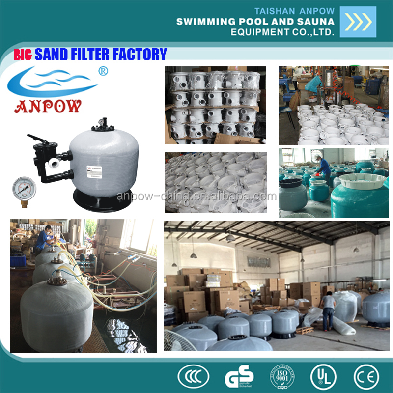 China Big factory sale high quality fiberglass pool sand filter