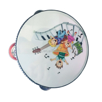 percussion preschool educational hand drum with colored PVC drum head