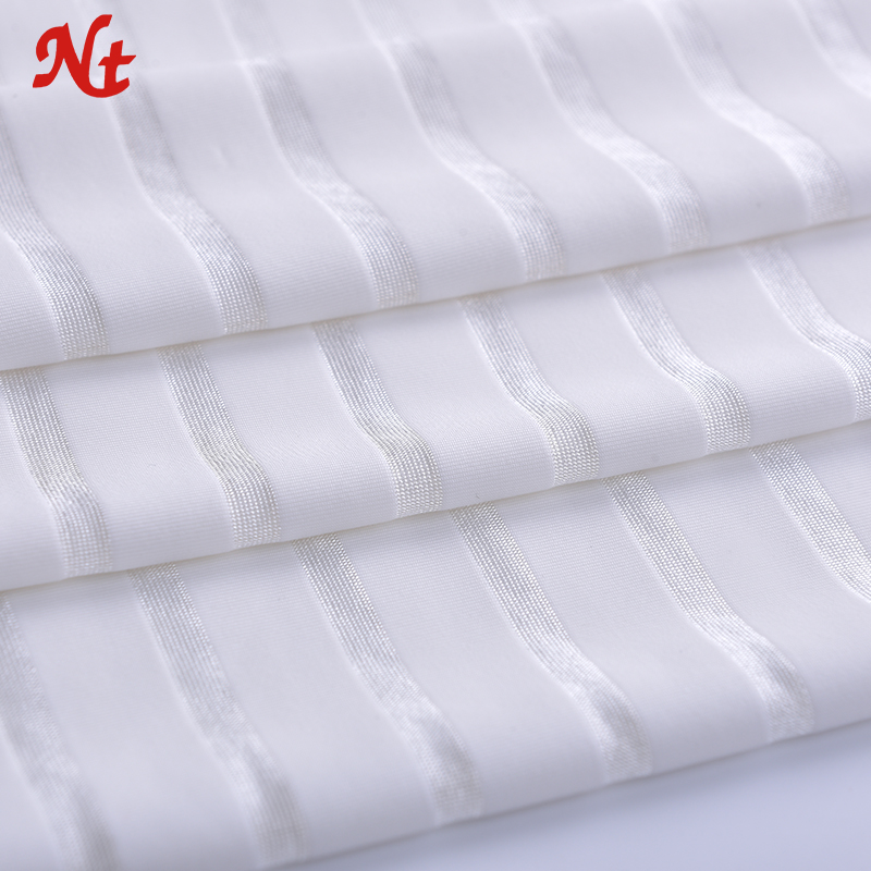 4 Way Stretch Lycra Fabric Rib Weft 93% Nylon 7% Spandex Stripe Fabric for Underwear Garment